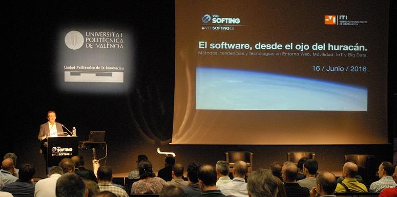 Inauguración de la II Edición de VLCSOFTING, por parte del Director Científico del Instituto Tecnológico de Informática, José Bernabéu