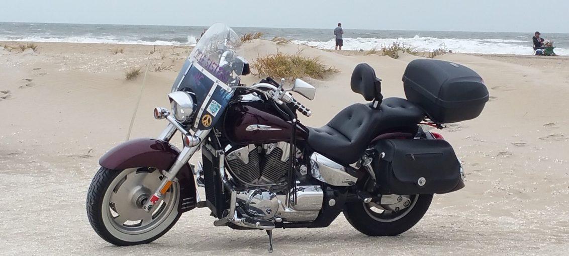 ruta en moto por las playas